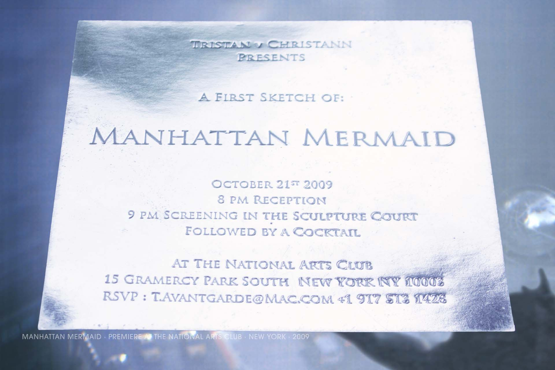 Tristan V Christann, Fantasy, Gaia Award, Moondance Filmfestival, Spirit of Da Vinci, Manhattan Mermaid_05 invite NAC 2009